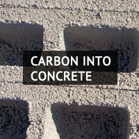 Carbon into concrete.