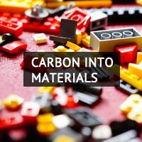 Carbon into materials.